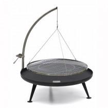 Fire-Pit 1200 sortmalet med spil og rustfri rist